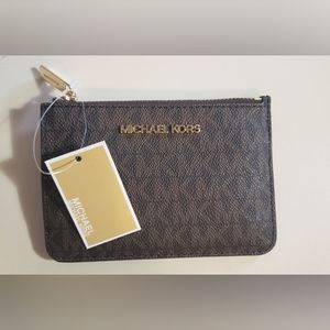Michael Kors Jet Set Travel Top Zip Coin Pouch NWT